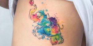 Elefante de colores
