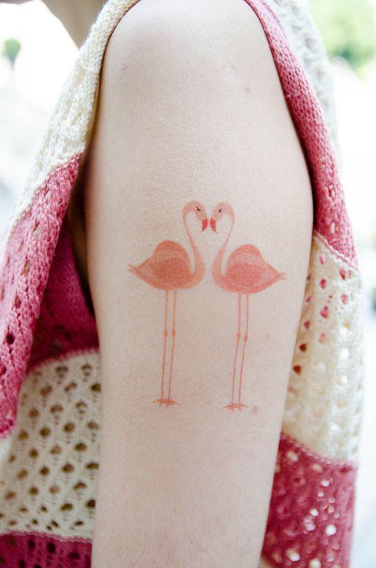 flamencos in love tatuajes para mujeres. Black Bedroom Furniture Sets. Home Design Ideas