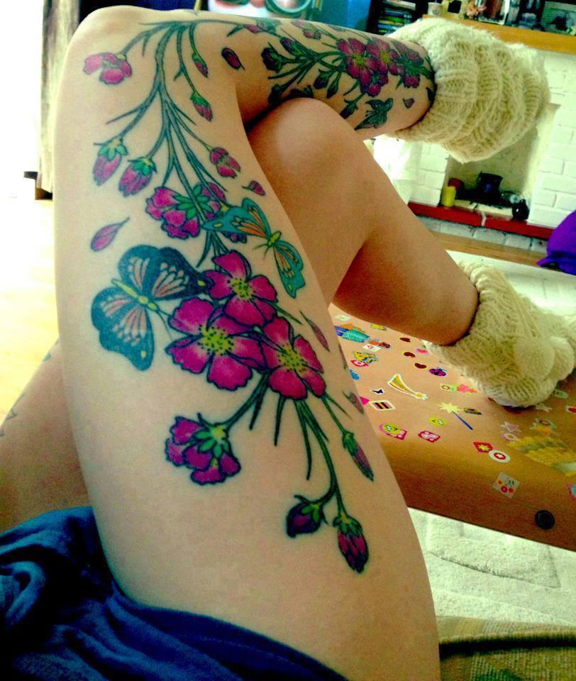 Flores Y Mariposas Tatuajes Para Mujeres