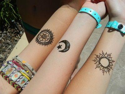 Luna Estrella Sol Y Flor Tatuajes Para Mujeres