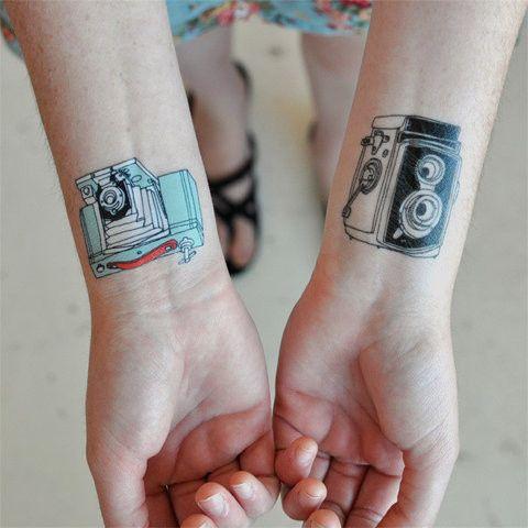 c mara de fotos vintage   tatuajes para mujeres