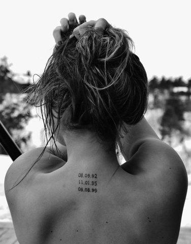 Fechas De Nacimiento De Hijos Tatuajes Para Mujeres