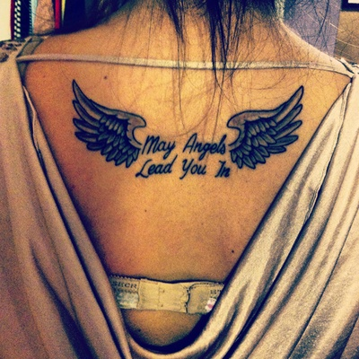 Frase: May Angels Lead You In