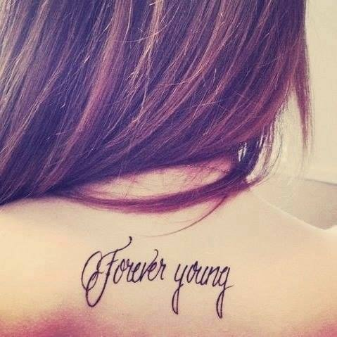 Frase Forever Young