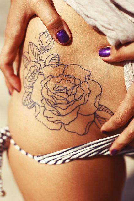 Rosa Pimpollos Tatuajes Para Mujeres