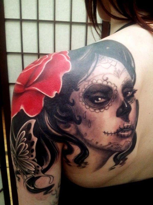 Catrina Mexicana - Tatuajes para Mujeres