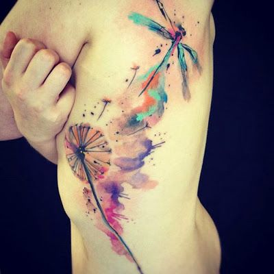 Diente De Le&243n Y Lib&233lula By Ondrash Tattoo  Tatuajes Para Mujeres