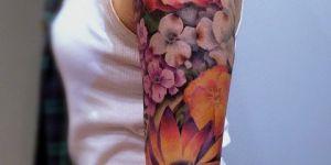 Flores en manga