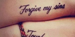 Frase: Forgive my sins. Touch my soul
