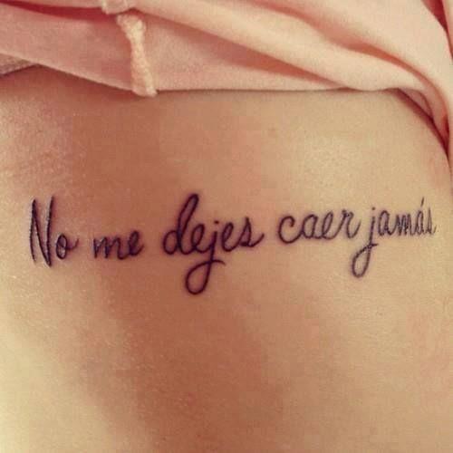 Frase no me dejes caer jam s tatuajes para mujeres - Tatuajes de pared ...
