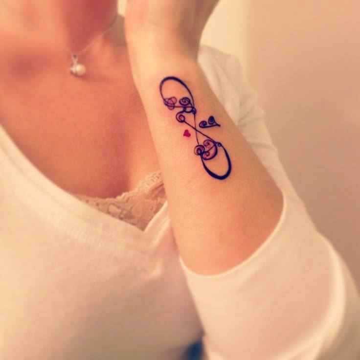 Infinity Tattoo On Side of Wrist
