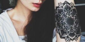 Mandala en Tinta negra
