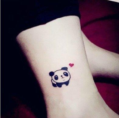 Tatuaje Panda Acuarela oso panda - tatuajes para mujeres