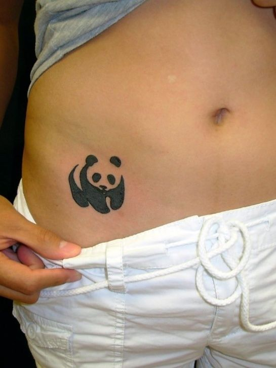 Oso Panda - Tatuajes para Mujeres