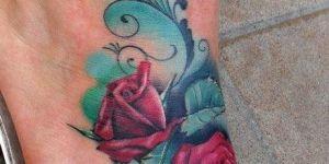 Rosas rojas y firuletes