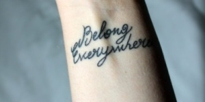 Frase: Belong everywhere