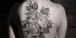 Tres Flores y Hojas