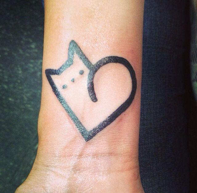 Corazn Gatito Tatuajes Para Mujeres