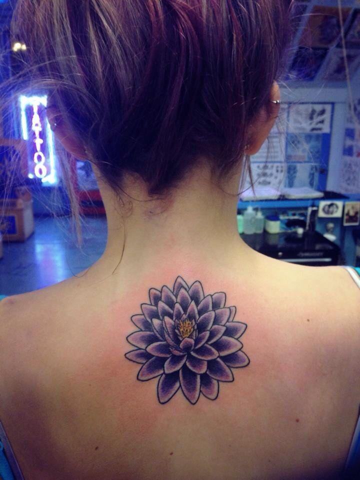 Flor Violeta  Tatuajes Para Mujeres