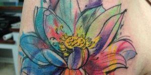 Flor de Loto en Acuarelas