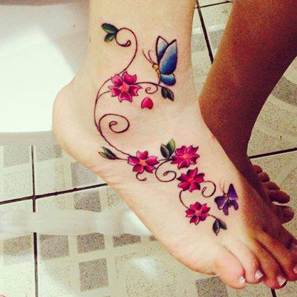Flores Mariposas Tatuajes Para Mujeres