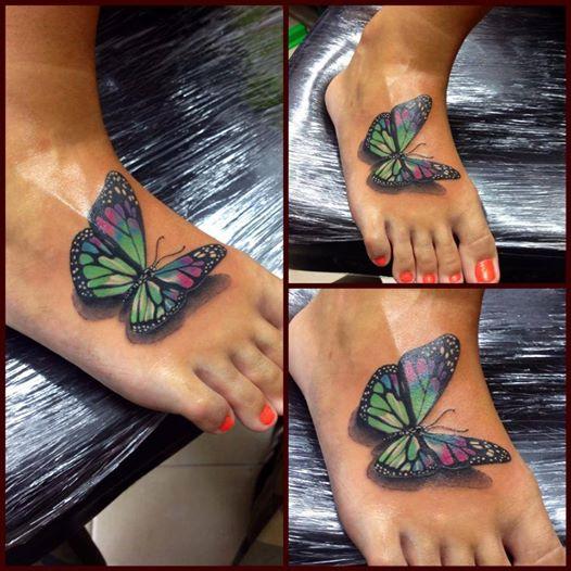 Mariposa 3D - Tatuajes para Mujeres