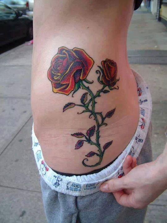 Pimpollo Y Rosa Tatuajes Para Mujeres