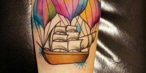 Barco con globos