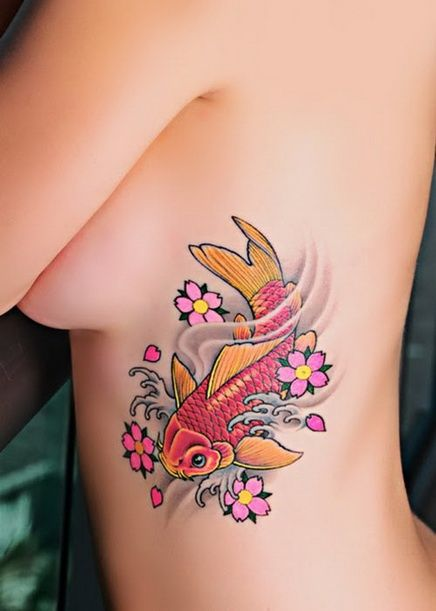 Pez Koi Tatuajes Para Mujeres