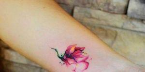 Flor pequeña en acuarelas