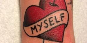 Corazón con Flecha y Frase: Myself