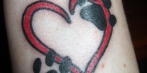 Corazón con huellitas