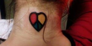 Corazón con Signo de la Paz