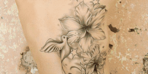 Flores, Aves, Calavera, Estrellas