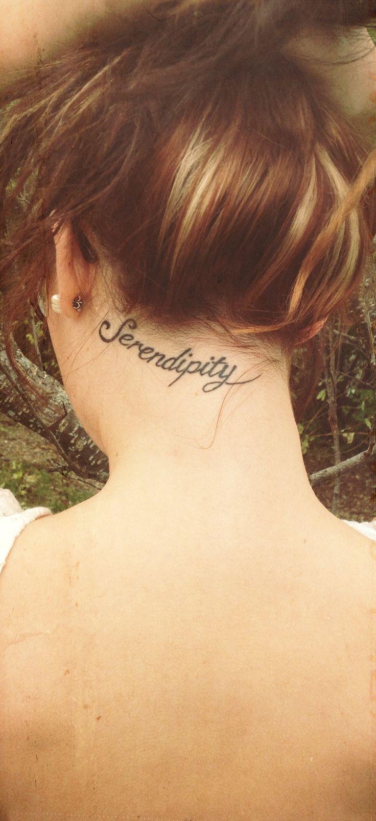 Frase Serendipity Tatuajes Para Mujeres