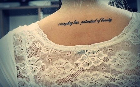 Frase: Everyday has potential of beauty