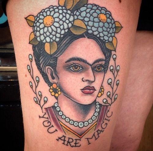 Frida Kahlo Frase You Are Magic Tatuajes Para Mujeres