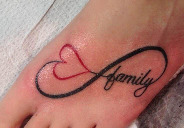 infinito coraz n y frase family tatuajes para mujeres. Black Bedroom Furniture Sets. Home Design Ideas