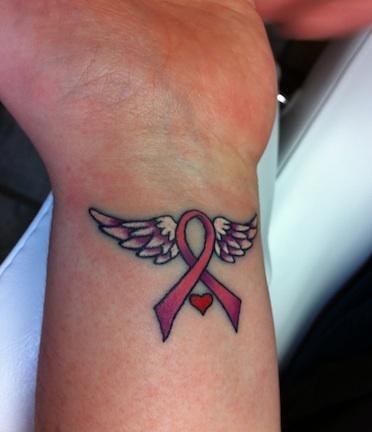 lazo coraz n y alas   tatuajes para mujeres