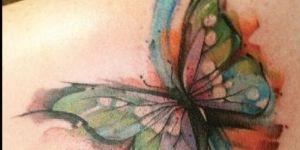 Mariposa en Acuarelas