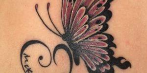 Mariposa, Corazón y Nombre de Hijo