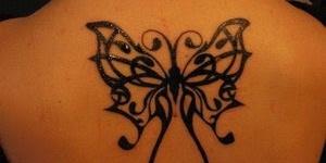 Mariposa Tribal con Firuletes