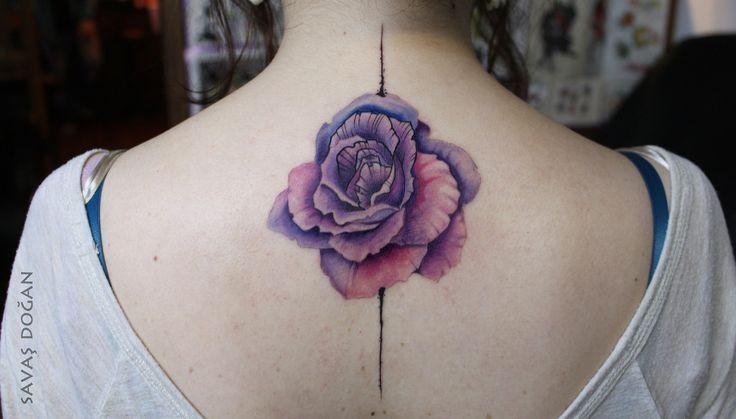 Rosa en 3D - Tatuajes para Mujeres