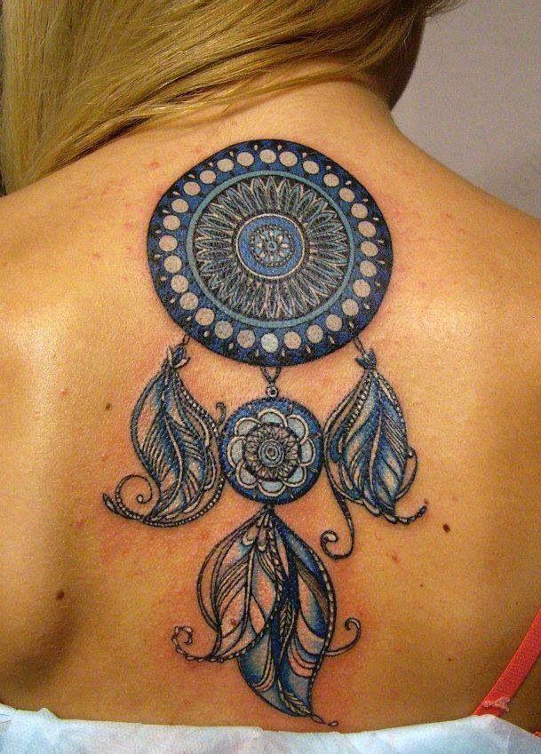Atrapasueños Azul Tatuajes Para Mujeres