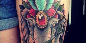 Elefante con plumas