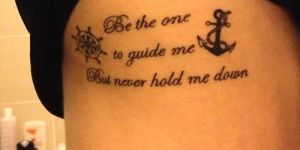 Frase: Be the one to guide me but never hold me down