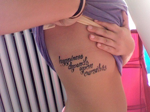 Frase: Happiness dependes upon ourselves