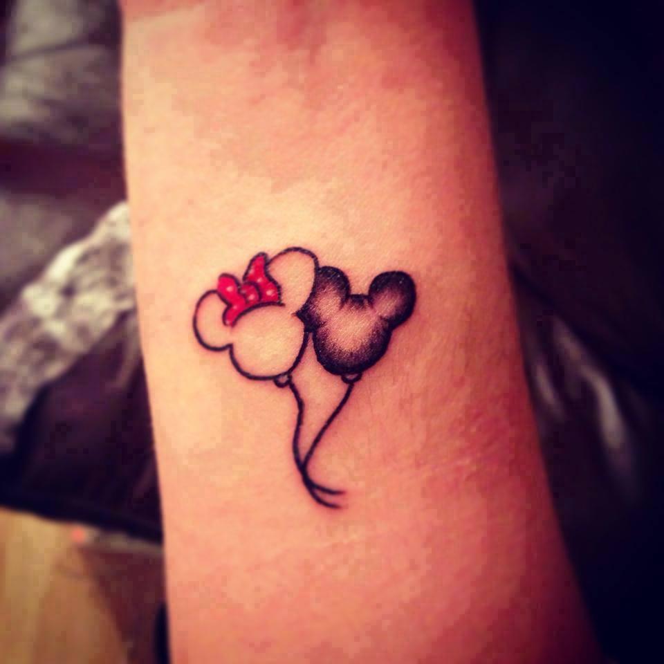 Globo De Minnie Amp Mickey Mouse Tatuajes Para Mujeres