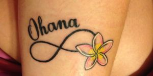 Infinito, Flor y Frase: Ohana
