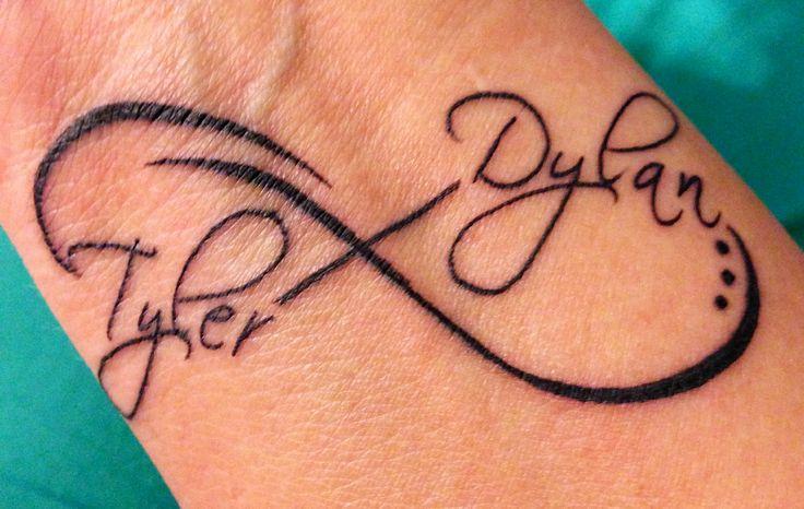 Infinito Nombres De Hijos Tatuajes Para Mujeres
